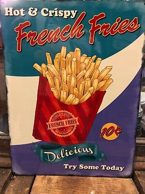French Fries Retro Metal Sign