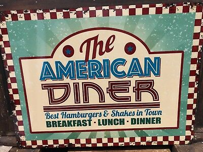 American Diner Retro Metal Sign