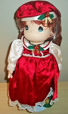Precious Moments Christmas Holly Stocking Doll 1141 With Box