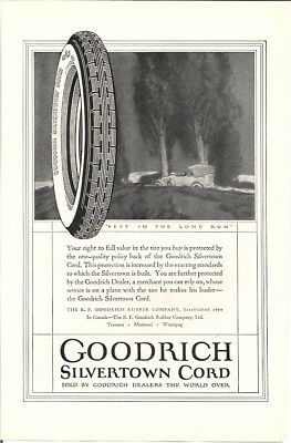 Goodrich Silvertown Cord Full Value In the Tire You Buy Vintage Ad 1920s