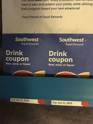 Southwest Airlines Drink Coupons [Two] - SWA Drink Coupon