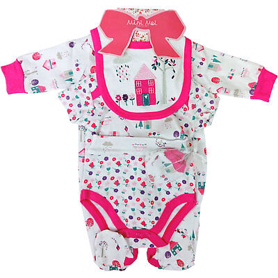 Baby Girls pretty Gift set-outfit-PINK/WHITE-Newborn,0-3,3-6mth