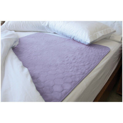 "Conni Mate Reusable Absorbent Bed Pad 37"" x 33"" - Incontinence Bed Wetting-Mauve"