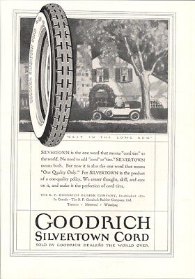 Goodrich Silvertown Means Cord Tire to the World Vintage Ad 1920s