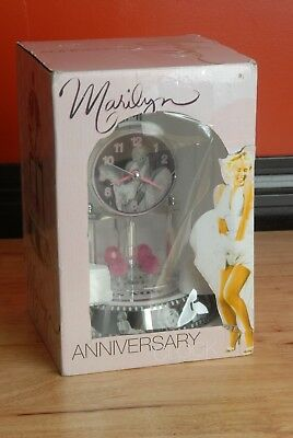 Collectible Marilyn Monroe Anniversary Clock With Glass Dome