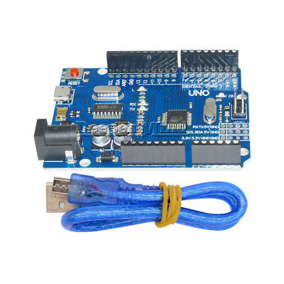 Arduino UNO R3 Latest Version ATMEGA328P-16AU CH340G Micro USB With Wire Set