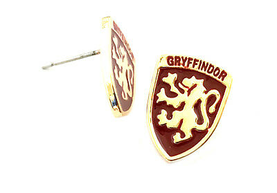 Harry Potter Griffendor Crest Post Stud Earrings W/Gift Box