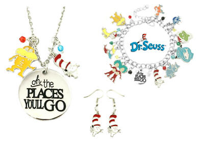 "New Dr Seuss Cat in the Hat ""Oh The Places Youll Go"" 3 Pack Gift Set"