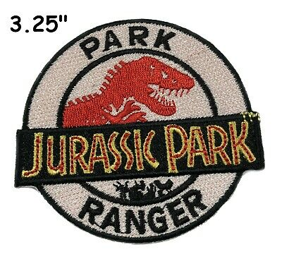 """3.25"""" Jurassic Park Ranger Movie Cosplay Tactical Embroidered Iron-On Patch"""