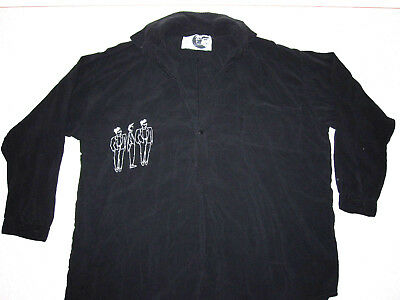 Vintage Urban 80s/90s Poet Mens Shirt ITALIAN BOY CONCEPT Black Unique Rare Art