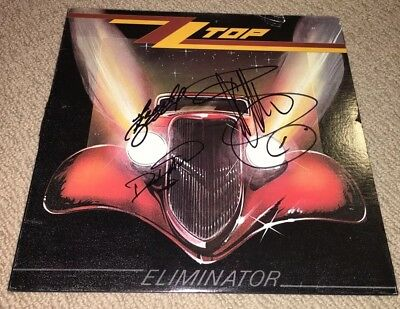 Zz Top Signed Eliminator Vinyl Lp Record! Band Signed Billy Gibbons Dusty Hill