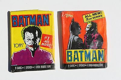1989 Topps Batman Movie Wax Pack  9 Cards 1 Sticker