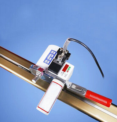 """Fabric Cloth Cutter w/86.6""""(220cm) Rack and Digital Counter Delay Function Cut"""