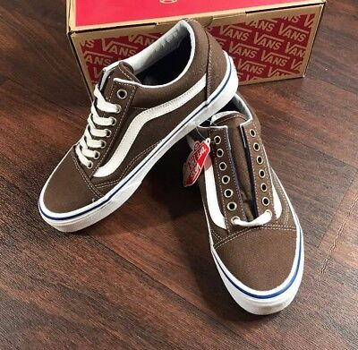 31138f7777fd VANS OLD SKOOL Chestnut True White Men s Classic Skate Shoes Size ...