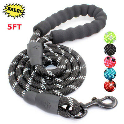 Mountain Climbing Rope Reflective Dog Leash 5FT Long With Handle Heavy Duty