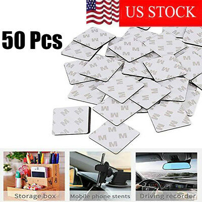 50Pcs Super Stick Double Sided White Foam Tape Pads Mounting Rectangle Adhesive