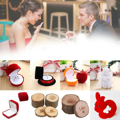 5C2D Fashion Romantic Wedding Jewelry Gift Packaging Ring Box Lot boxes Display