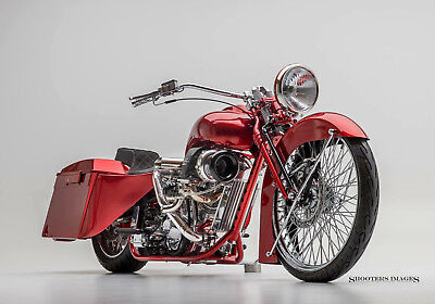 2015 Custom Built Motorcycles BAGGER  RODS & RIDES MOTORCYCLE COMPANY PRO SHOW TURBO BAGGER STREET LEGAL MAGAZINE BIKE