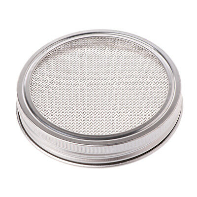 Seed Sprouter Sprouting Jars  Mason Stainless Steel Strainer Lids Germinator Set