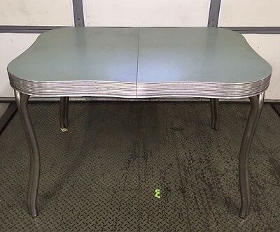 Vintage Mid Century Formica and Chrome 3' x 4' Kitchen Table, Great Shape!