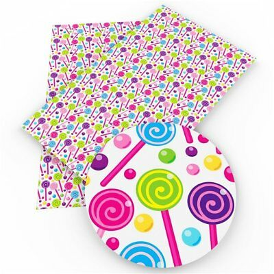 Lollipops Faux Leather Sheets, Printed Faux Leather