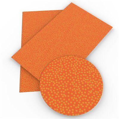 Fall Polka Dots Faux Leather Sheets, Printed Faux Leather