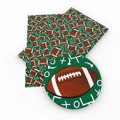 Football Faux Leather Sheets, Printed Faux Leather