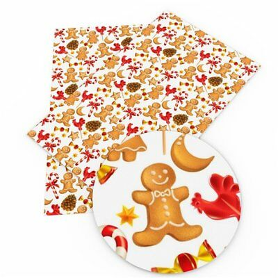 NEW Gingerbread Cookies Faux Leather Sheets, Christmas Faux leather