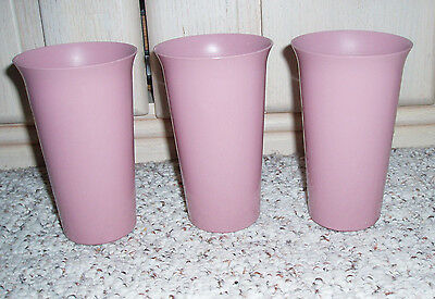 3 Pc 12 oz Big Bell Tumblers~Dusty Rose Pink