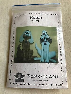 """Raggedy Stitches Michelle Pearson Rufus Dog 12"""" toy sewing craft kit"""