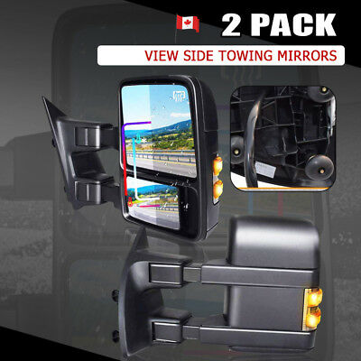 For 08-16 Ford Super Duty Side Mirrors Power Heated Smoke Signal Towing Pair