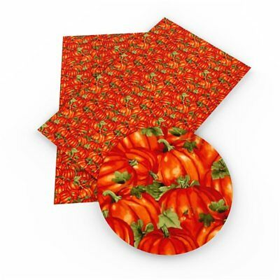 Pumpkin Patch Faux Leather Sheets, Printed Faux Leather
