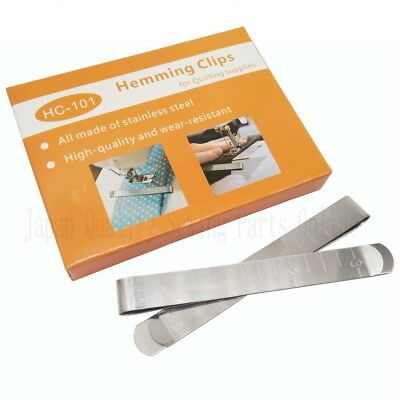 Quilting Clips Box of 20 Stainless Steel Hemming Clips 3' Measurement Ruler