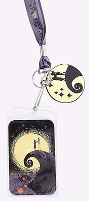 Disney Nightmare Before Christmas Lanyard ID Holder & Charm Loungefly New