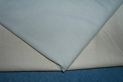 """2 pcs Linen Fabric = 4 1/3 Yds X 54"""" & 72"""" Wide Ivory  Apparel Upholstery Crafts"""