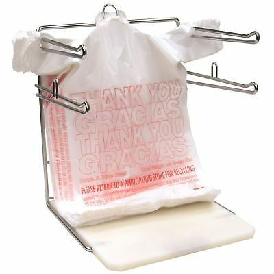T Shirt Bags 1000 Plastic Grocery Shopping Carry Out Thank You 11.5 x 22 x 6.5