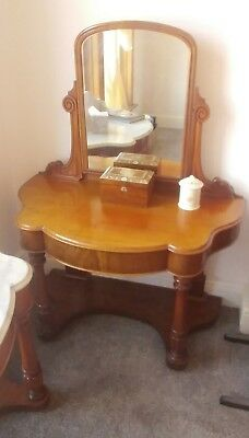 PRETTY VICTORIAN MIRRORED DRESSING TABLE c1890