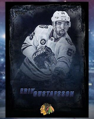 2019 Topps Skate Digital - Erik Gustafsson - Black Ice - Chicago Blackhawks