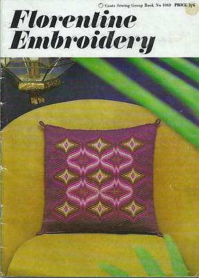 Vintage Coats Embroidery Book 1069 - Florentine Embroidery - 1968