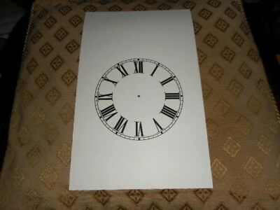 "Steeple Paper Clock Dial - 5"" M/T-Roman Numerals- Matt Cream-Clock Parts /Spares"