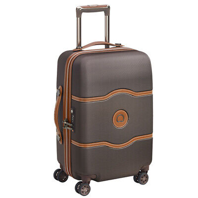 NEW Delsey Chatelet Air Chocolate Wheelaboard Spinner Case