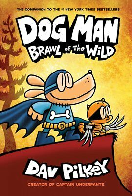 Dog Man: Brawl of the Wild by Dav Pilkey Action & Adventure Hardcover TOP SELLER