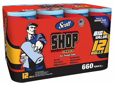 Scott Shop Blue Original Multi Purpose Paper Shop Towels 55 Sheets Per Roll