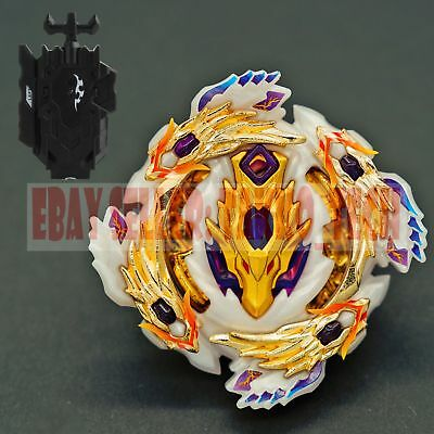 GOLD Bloody Longinus (Emperor Limited) Beyblade BURST B-110+Black Launcher B-119
