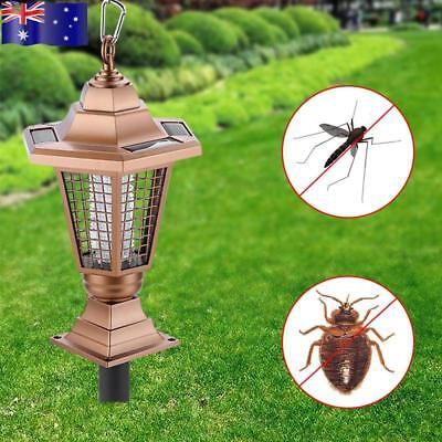 Solar Powered UV Mosquito Control Lamp Insect Zapper Bug Pest Killer Light Lawn