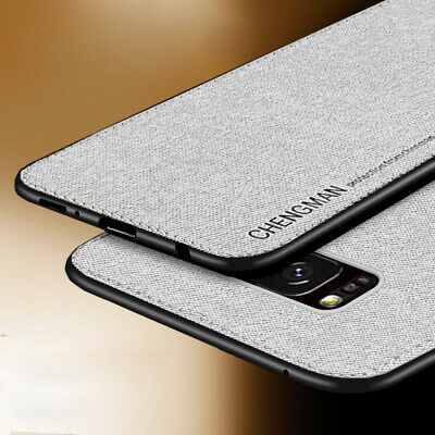 For Samsung Galaxy S8 S9 S10 Plus Magnetic Shockproof Soft TPU Fabric Case Cover