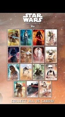 Topps Digital Star Wars Card Trader: Fight for the Galaxy Set (15 cards)