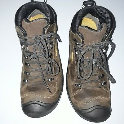Keen Brown Leather Steel Toe Hiking /Work ASTM F2413-11 Safety Boots Sz 9.5 EE