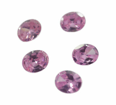 magnificent Pink Cubic Zirconia Faceted Oval 12x14 mm 1-PC Gemstones US