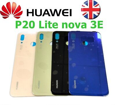OEM Huawei P20 Lite Nova 3E Rear Glass Back Battery Cover Replacement + Adhesive
